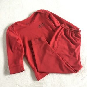 Halo bright red technical base layer set for baby